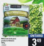 Millcreek Fresh Peas - 400g