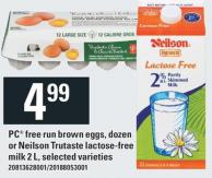 PC Free Run Brown Eggs - Dozen Or Neilson Trutaste Lactose-free Milk 2 L