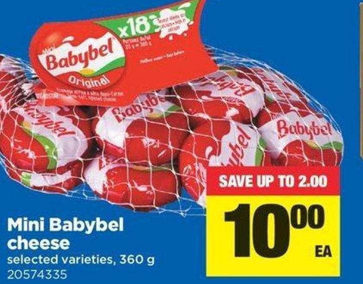 Mini Babybel Cheese - 360 G