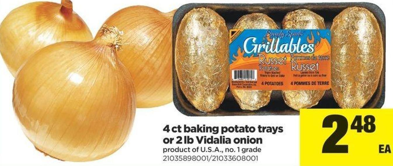 4 Ct Baking Potato Trays Or 2 Lb Vidalia Onion
