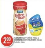 Carnation Coffeemate (450g) or Nesfruta Water Enhancers (52ml)
