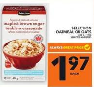 Selection Oatmeal Or Oats
