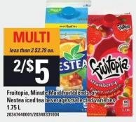 Fruitopia - Minute Maid Fruit Blends Or Nestea Iced Tea Beverages - 1.75 L