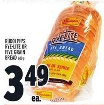 Rudolph's Rye-lite or Five Grain Bread