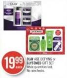 Olay Age Defying or Glysomed Gift Set