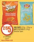 Sun Chips (215g - 225g) or Lay's Poppables (141g)