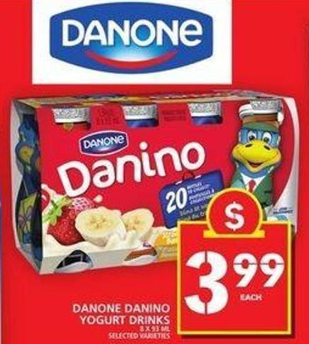 Danone Danino Yogurt Drinks