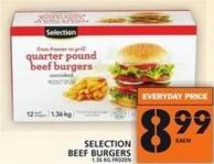 Selection Beef Burgers