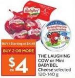 The Laughing Cow or Mini Babybel Cheese Selected 120-140 g