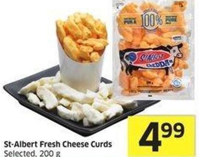 St-albert Fresh Cheese Curds Selected.