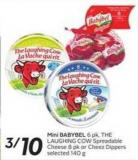 Mini Babybel 6 Pk - The Laughing Cow Spreadable Cheese 8 Pk or Cheez Dippers