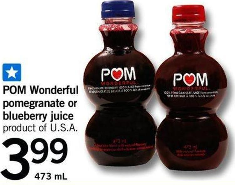 POM Wonderful Pomegranate Or Blueberry Juice - 473 Ml