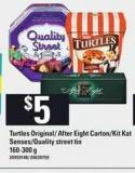Turtles Original/ After Eight Carton/kit Kat Senses/quality Street Tin 160-300 g