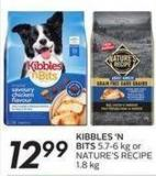 Kibbles 'N Bits 5.7-6 Kg or Nature's Recipe