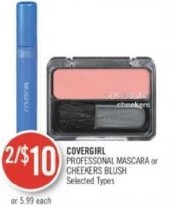 Covergirl Professonal Mascara or Cheekers Blush