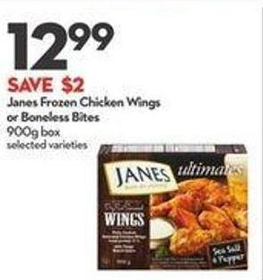 Janes Frozen Chicken Wings or Boneless Bites