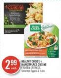Healthy Choice or Marketplace Cuisine Frozen Entrees