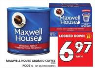 Maxwell House Ground Coffee Or PODS