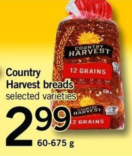 Country Harvest Breads - 60-675g