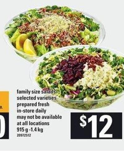 Family Size Salads - 915 g -1.4 Kg