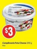 Compliments Feta Cheese 200 g