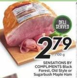 Sensations By Compliments Black Forest - Old Style or Sugarbush Maple Ham