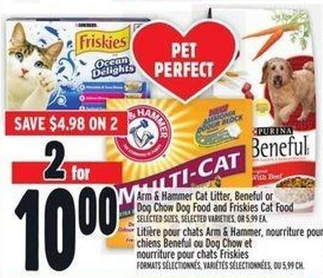 Arm & Hammer Cat Litter - Beneful Or Dog Chow Dog Food And Friskies Cat Food
