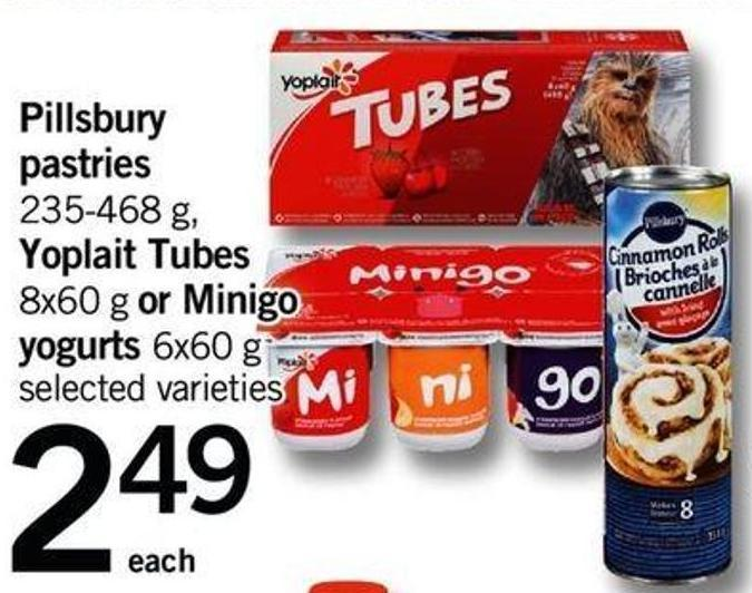 Pillsbury Pastries - 235-468 G - Yoplait Tubes - 8x60 G Or Minigo - Yogurts - 6x60 G