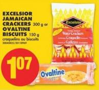 Excelsior Jamaican Crackers - 300 g or Ovaltine Biscuits - 150 g