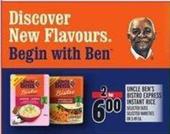 Uncle Ben's Bistro Express Instant Rice