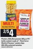 Planters - Billy Bee Peanuts 300 G - Or PC Kettle Cooked - Loads Of - Thick Cut Or World Of Flavours Potato Chips 200-220 g
