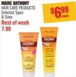 Marc Anthony Hair Care Products