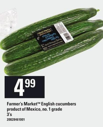 Farmer's Market English Cucumbers - 3's