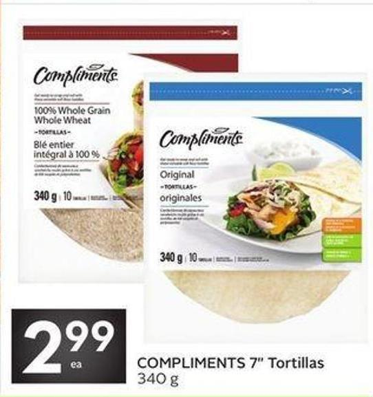 Compliments 7in Tortillas
