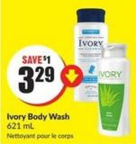 Ivory Body Wash 621 ml