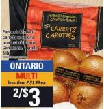 Farmer's Market Carrots Or Onions - 3 Lb