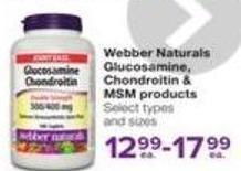 Webber Naturals Glucosamine - Chondroitin Msm Products