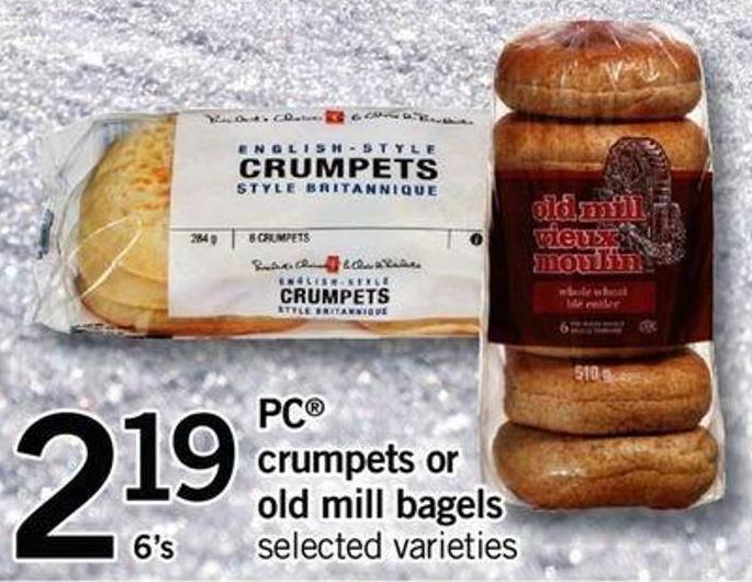 PC Crumpets Or Old Mill Bagels - 6's
