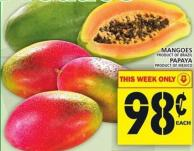 Mangoes Or Papaya