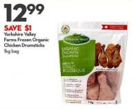Yorkshire Valley Farms Frozen Organic Chicken Drumsticks 1kg