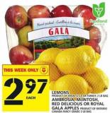 Lemons Or Ambrosia - Mcintosh - Red Delicious Or Royal Gala Apples