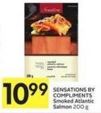 Sensations By Compliments Smoked Atlantic Salmon 200 g