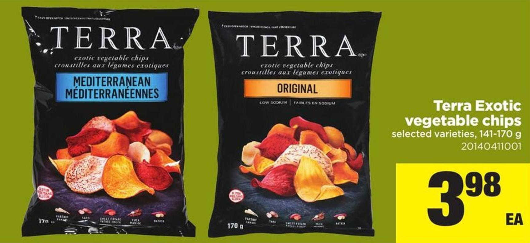 Terra Exotic Vegetable Chips - 141-170 G
