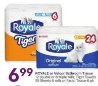 Royale or Velour Bathroom Tissue
