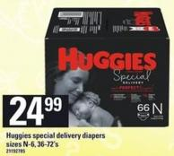 Huggies Special Delivery Diapers - 36-72's