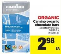 Camino Organic Chocolate Bars - 80/100 g