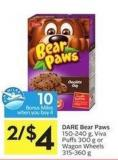 Dare Bear Paws 150-240 g - Viva Puffs 300 g or Wagon Wheels 315-360 g