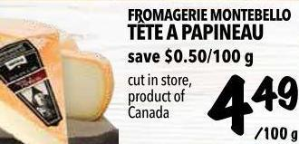 Fromagerie Montebello Tête A Papineau