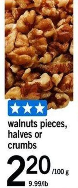 Walnuts Pieces - Halves Or Crumbs - 100 G