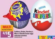 Cadbury - Kinder - Hershey's - Mars Or Nestlé Easter Eggs